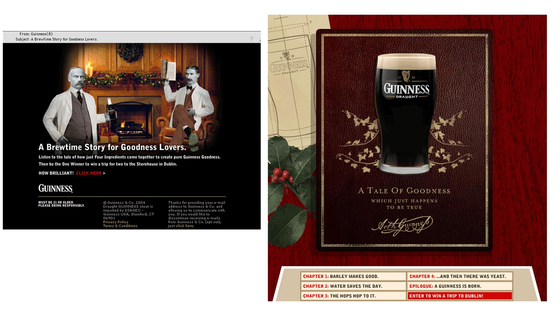 GUINNESS - Email Holiday Touch (Caples Winner)